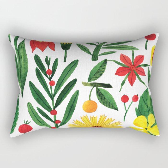 Botanic Watercolor Collection #15 Rectangular Pillow