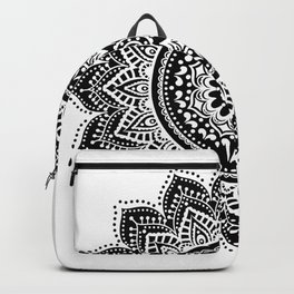 black white mandala Backpack