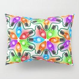 Tie Dye Holiday Lights Pillow Sham