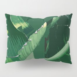 Green leaf Pillow Sham