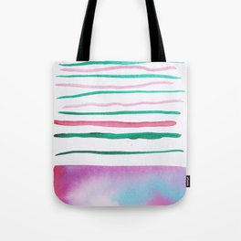 25  |181026 Lines & Color Block | Watercolor Abstract | Modern Watercolor Art Tote Bag