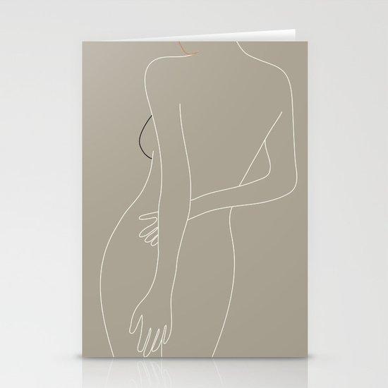 Minimal Line Art Woman Figure III by nadja1