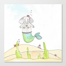 Ellie the Mermaid Canvas Print
