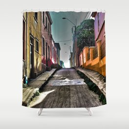 One Way Shower Curtain
