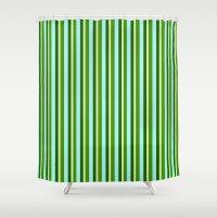stripe Shower Curtains featuring stripe by zakiaz designs