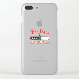 CHRISTMAS - Christmas Loading... T Shirt Clear iPhone Case