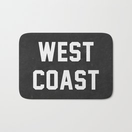 West Coast - black version Bath Mat