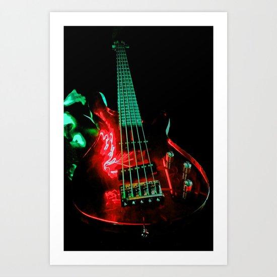 Red Bass  Art Print