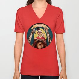Uncle Edgar and the Hybrid Circus Unisex V-Neck