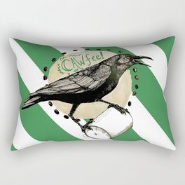Crows Love CAW-FEE Rectangular Pillow
