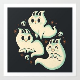 Ghost Cats Art Print