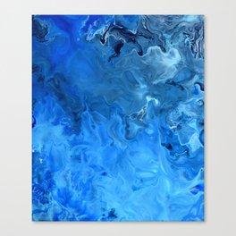 Blue Water Flow Acrylic Art Canvas Print