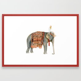 Riding Elephant Framed Art Print