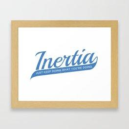 Inertia Framed Art Print