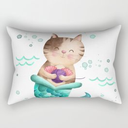 Purrmaid Illustration Rectangular Pillow
