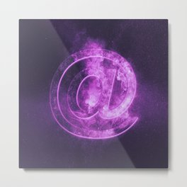 E-mail symbol. e-mail sign. Abstract night sky background Metal Print
