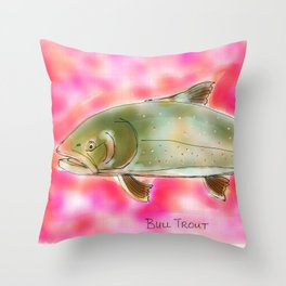 Bull Trout Throw Pillow