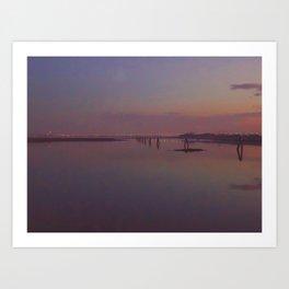 Lilac Venice Art Print