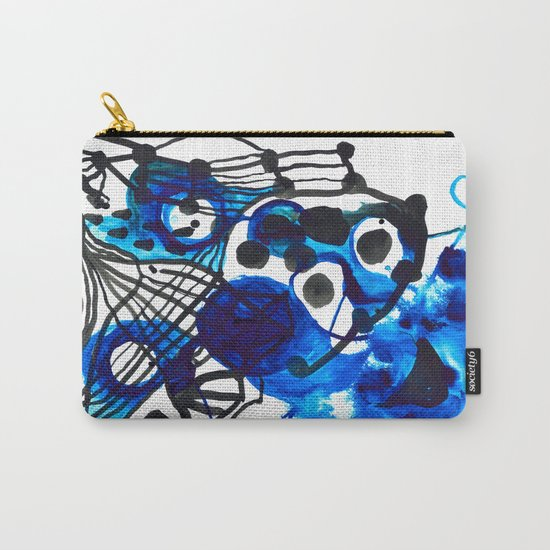 Paint 5 abstract minimal modern painting trendy bold painterly dorm college urban apartment decor Carry-All Pouch