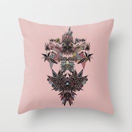 Mirror Parrot Throw Pillow