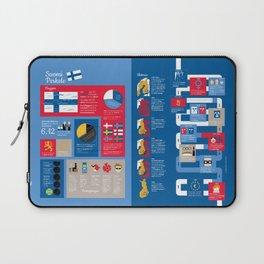 Finlandsinfografik (svensk version) Laptop Sleeve