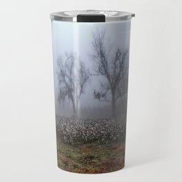 Foggy Cotton Field Travel Mug