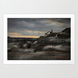 Steampunk / Burtonesque Coastal Fort Art Print
