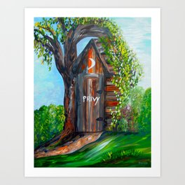 Outhouse - PRIVY Art Print