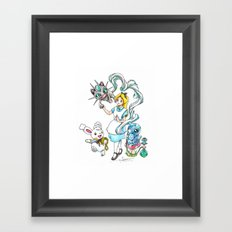 I'm not all there Myself Framed Art Print