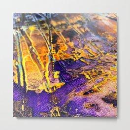 Textured Paint in Royal Splendor Metal Print