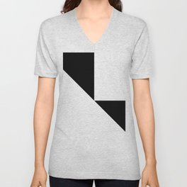 DE-STIJL (BLACK-WHITE) Unisex V-Neck