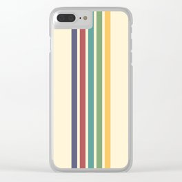 Rainbow Stripes IV Clear iPhone Case