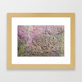 textured wall for background and texture Framed Art Print