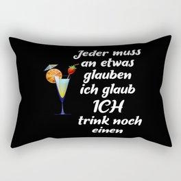 Believe In The Next Drink Rectangular Pillow
