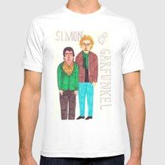 Simon & Garfunkel MEDIUM Mens Fitted Tee White