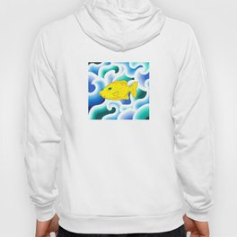 Yellow Fish with Wave (Babel with Wave) Hoody