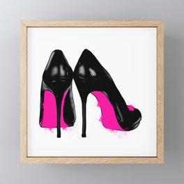 High heels Framed Mini Art Print