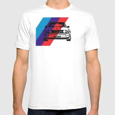 E30 M3 LARGE White Mens Fitted Tee