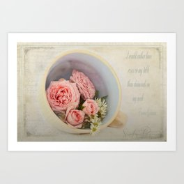 Cup of Diamonds  Art Print