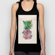 Floral Pineapple Unisex Tank Top