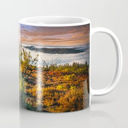morning lights in the Basque mountains Coffee Mug
