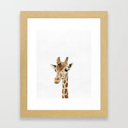 Giraffe, Baby, Animal, ZOO, Nursery, Minimal, Modern, Wall art Art Print Framed Art Print