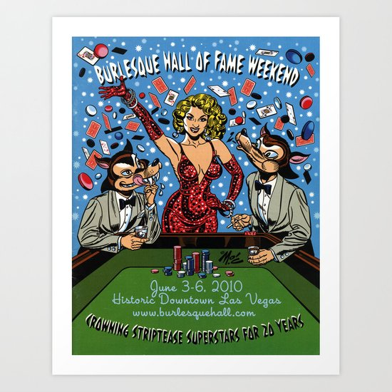 """""""Burlesque Hall of Fame Weekend 2010"""" by Mitch O'Connell Art Print"""