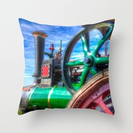 Clayton And shuttleworth Traction engine Throw Pillow