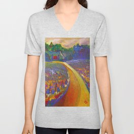 The Road to Chateau Chantal Unisex V-Neck