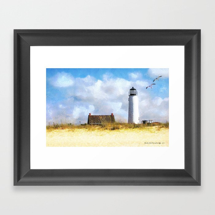 St. George Island Lighthouse Framed Art Print