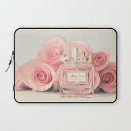 Fashion art, perfume and roses Laptop Sleeve