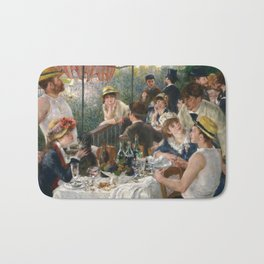 Auguste Renoir  -  Luncheon Of The Boating Party Bath Mat