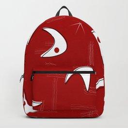 Boomerangs on Red Backpack