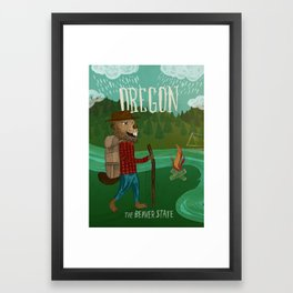 Oregon Framed Art Print